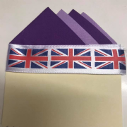 Purple & Lavender Four Point Pocket Hankie